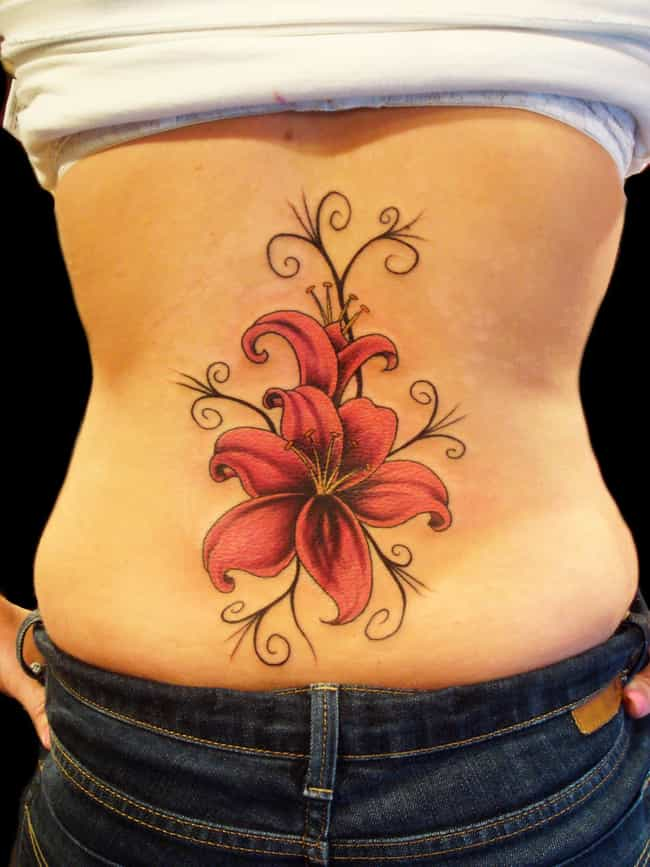 Lily Flower Tattoos is listed (or ranked) 4 on the list Flower Tattoo Designs