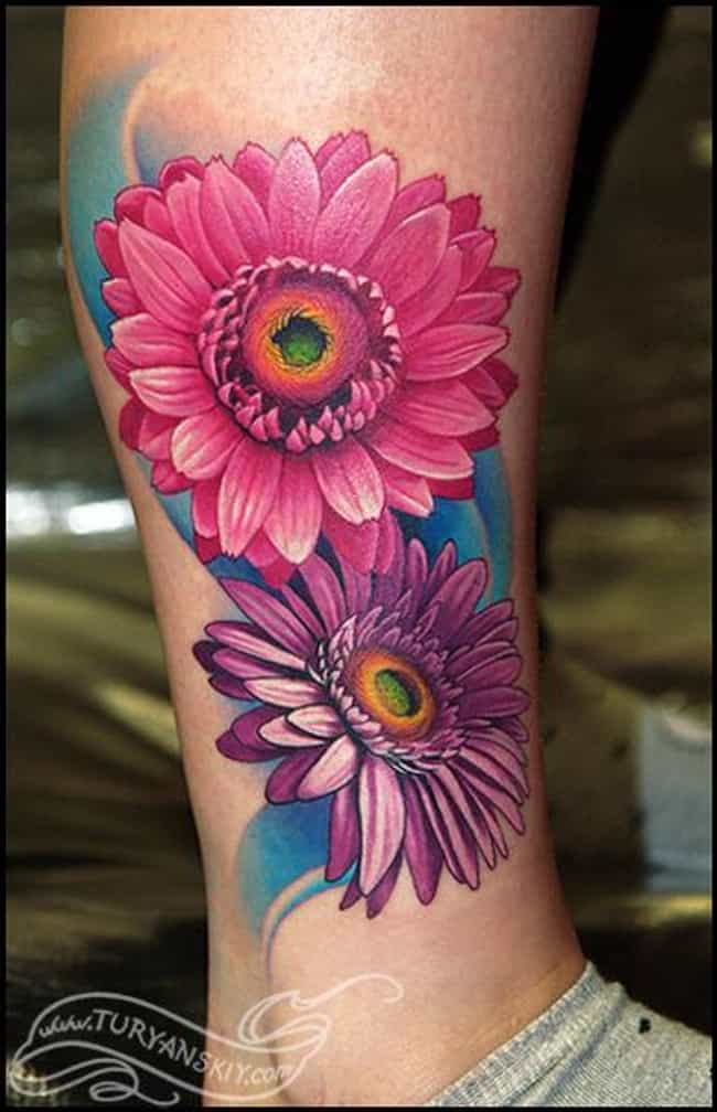 85 Best Daisy Flower Tattoo: Flower Tattoos: Picture List Of Flower Tattoo Designs