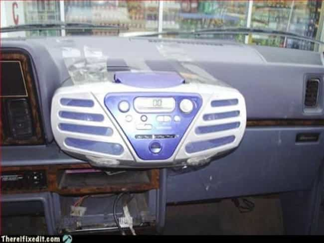 """Take That, Stereo Thieves is listed (or ranked) 3 on the list 37 Brilliant Examples of """"Redneck Innovation"""""""