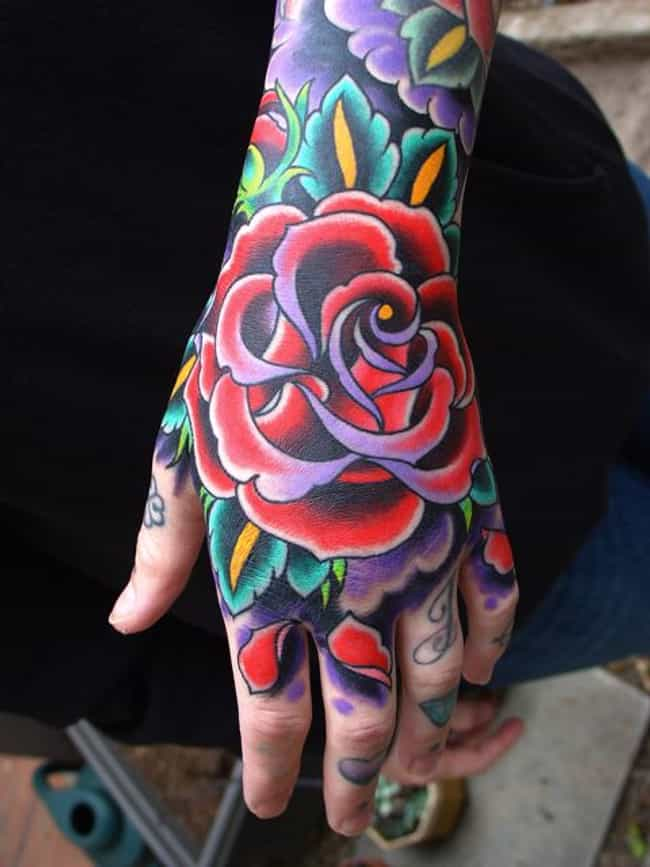 Colorful Hand Tattoos is listed (or ranked) 4 on the list Hand Tattoos And Designs