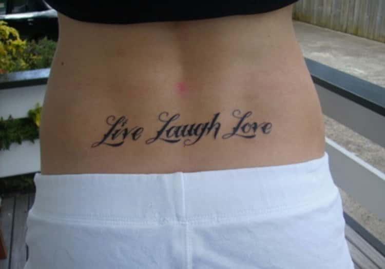 Word Lower Back Tattoos