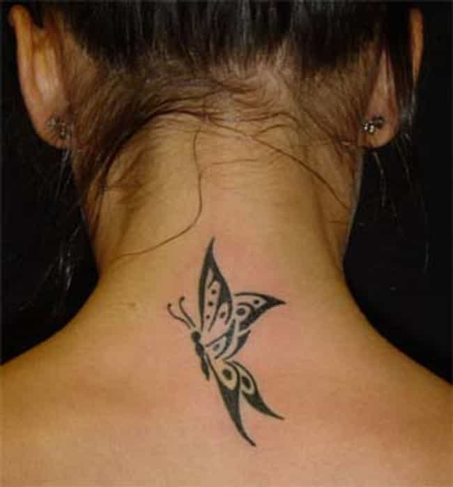 Butterfly Neck Tattoos ... is listed (or ranked) 2 on the list Neck Tattoo Designs