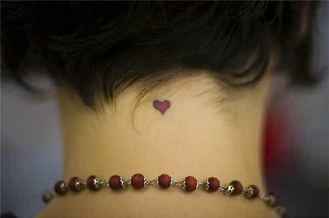 Heart Neck Tattoos is listed (or ranked) 1 on the list Neck Tattoo Designs