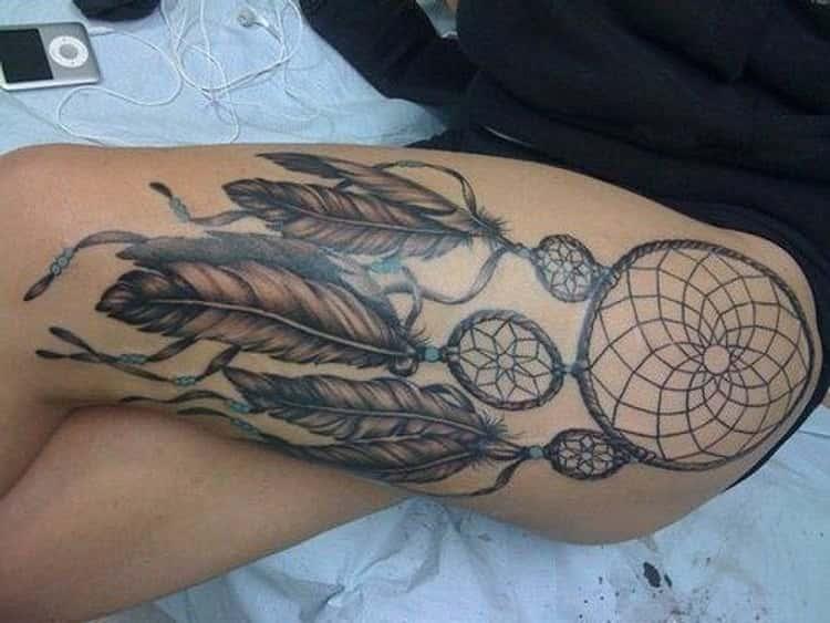 Large Design Thigh Tattoos
