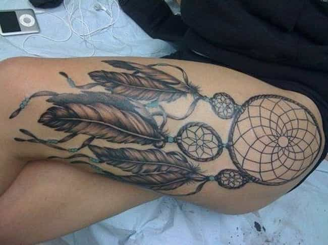 Large Design Thigh Tatto... is listed (or ranked) 2 on the list Thigh Tattoos And Designs