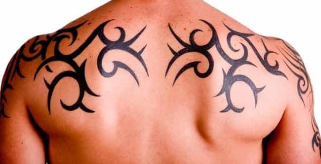 Male Upper Back Tattoo Design