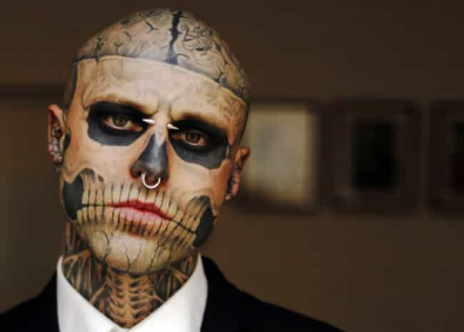 Skull Face Tattoos is listed (or ranked) 3 on the list Face Tattoos And Designs