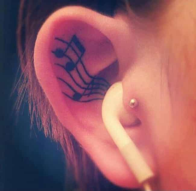 Music Ear Tattoos is listed (or ranked) 1 on the list Ear Tattoos And Designs