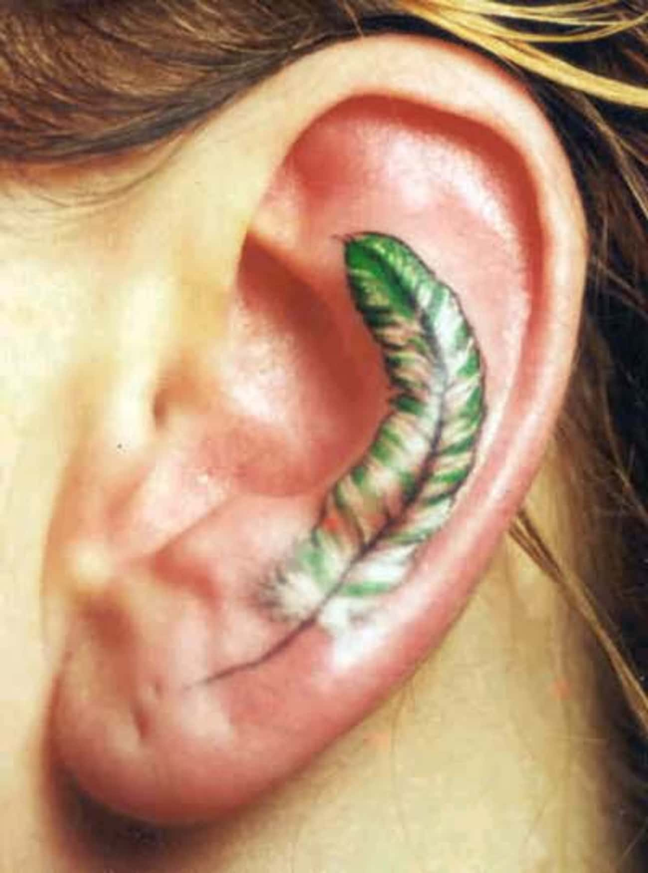 Feather Ear Tattoos