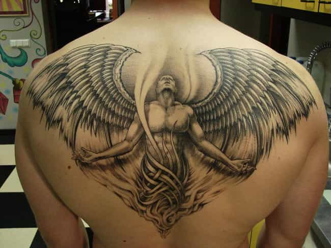 Angel Back Tattoos is listed (or ranked) 2 on the list Back Tattoos And Designs
