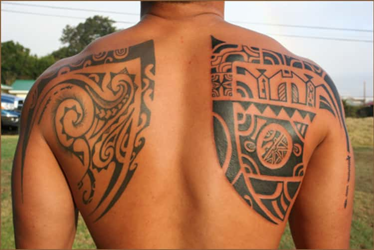 Polynesian Back Tattoos