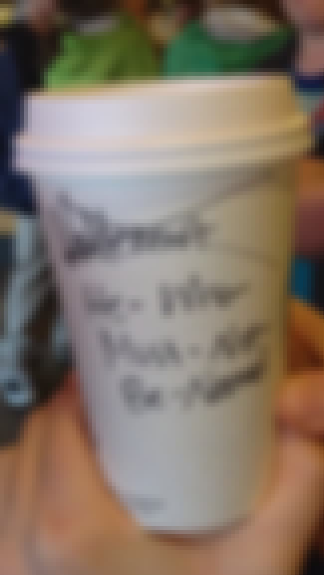From the Hogwart's Starbucks is listed (or ranked) 2 on the list The 30+ Best Starbucks Cup Spelling FAILs of All Time