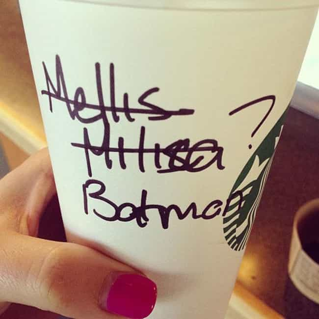 Coffee For Your Alter Ego is listed (or ranked) 2 on the list The 20 Best Starbucks Cup Spelling FAILs of All Time