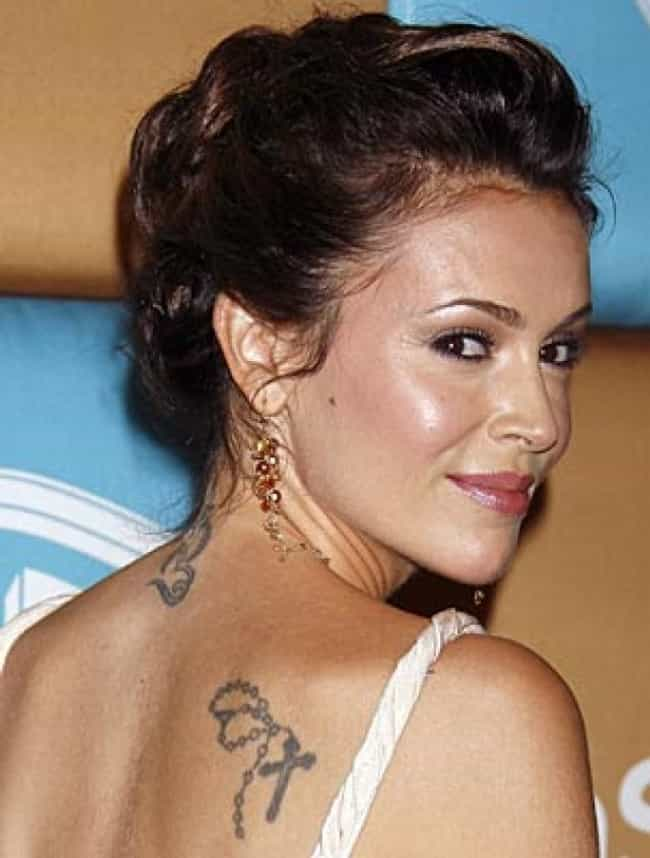 Rosary Tattoo is listed (or ranked) 1 on the list Alyssa Milano Tattoos