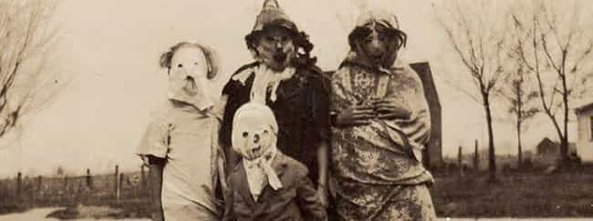 Guaranteed To Scare Away... is listed (or ranked) 1 on the list 18 Vintage Halloween Costumes That Will Give You Nightmares