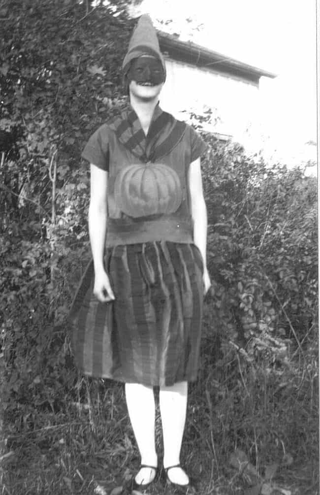 Her Pumpkin Bump Is Show... is listed (or ranked) 3 on the list 18 Vintage Halloween Costumes That Will Give You Nightmares