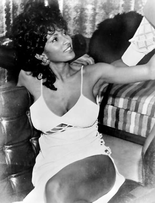 Pam Grier In Strappy Spaghetti Strap Dress