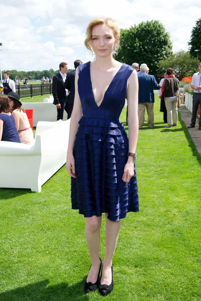 Eleanor Tomlinson in Blue Plun... is listed (or ranked) 4 on the list The Most Stunning Eleanor Tomlinson Photos