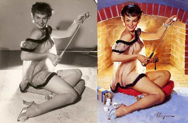 Roasting Marshmellows Is More ... is listed (or ranked) 1 on the list 15 Pin-Up Girls: Models Vs Drawn