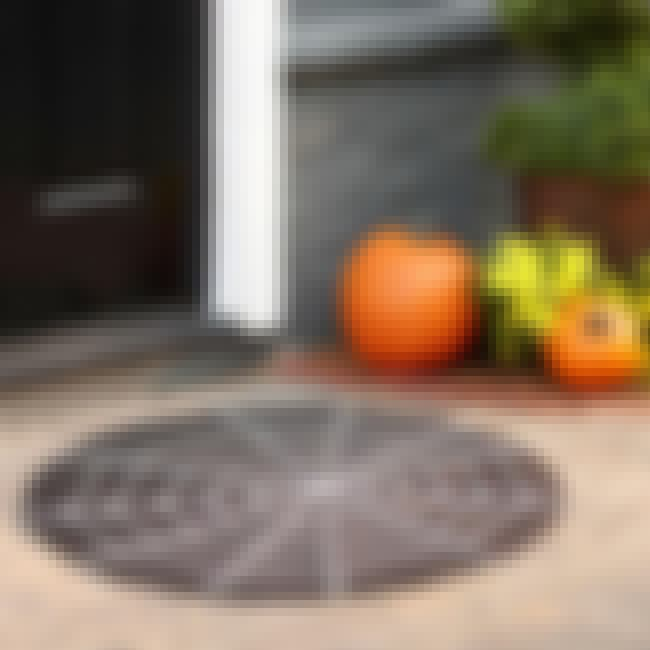 Spiderweb Doormat is listed (or ranked) 5 on the list Halloween Decoration Ideas