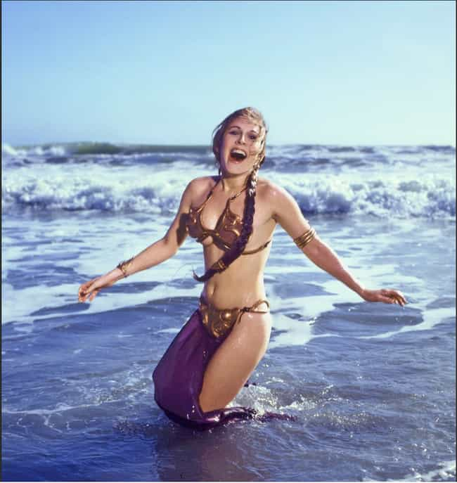 Carrie Fisher As Princess Leia in the Ocean