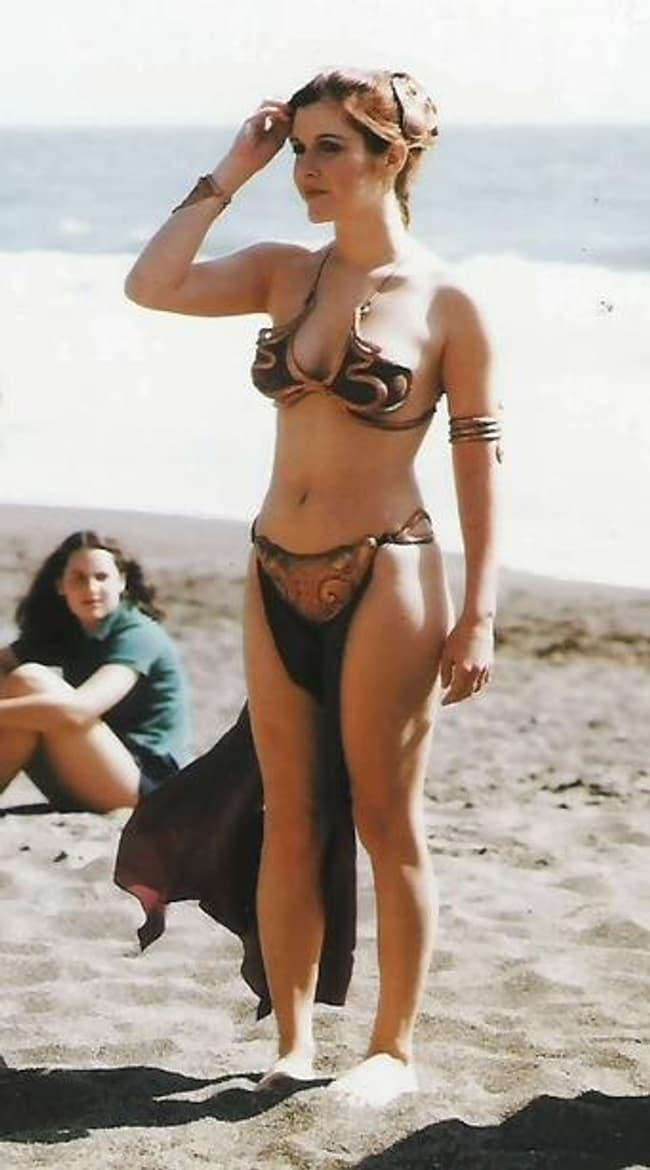 Carrie Fisher As Princess Leia On The Beach Early S