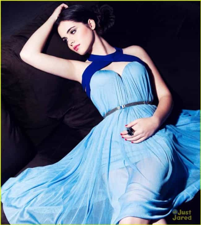 Vanessa Marano in a Blue Flowy... is listed (or ranked) 4 on the list The Most Stunning Vanessa Marano Photos