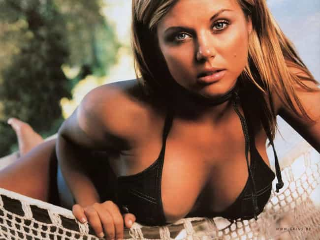 Tiffani Thiessen in Halter Den... is listed (or ranked) 2 on the list The 20 Hottest Tiffani Thiessen Photos