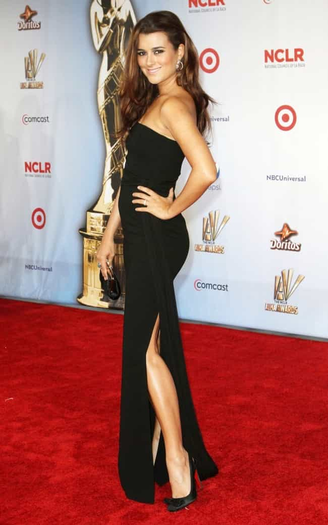 Cote De Pablo in Black Straple... is listed (or ranked) 2 on the list The 23 Most Stunning Cote De Pablo Photos