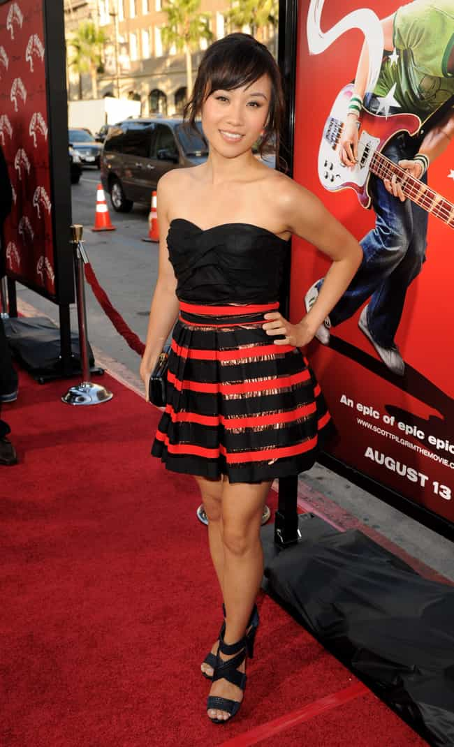 Ellen Wong in Strapless Stripe... is listed (or ranked) 1 on the list The Most Stunning Ellen Wong Photos