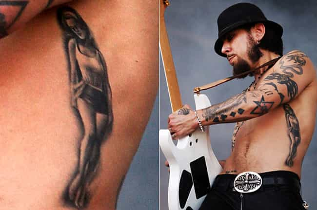 Portrait is listed (or ranked) 1 on the list Dave Navarro Tattoos