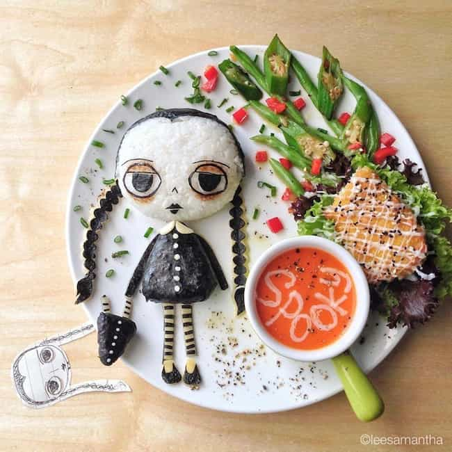 Make Room for Wednesday ... is listed (or ranked) 4 on the list The Best Pictures of Food Art