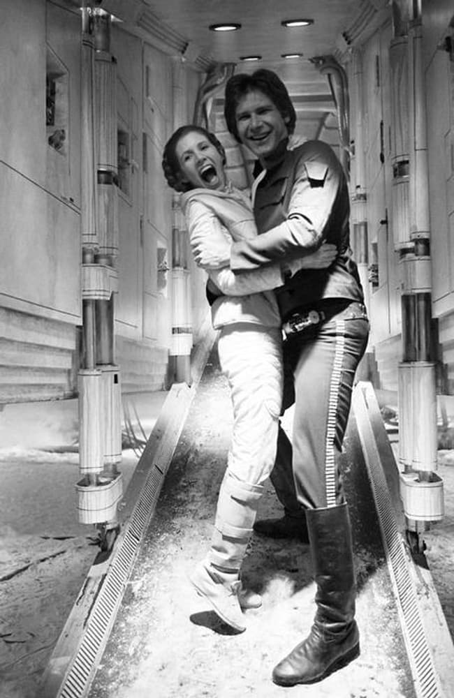Carrie Fisher And Harrison Ford Showing That Hoth Wasnt So Bad After All
