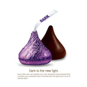 Hershey's Special Dark Cho is listed (or ranked) 10 on the list The Best Hershey's Kisses Flavors