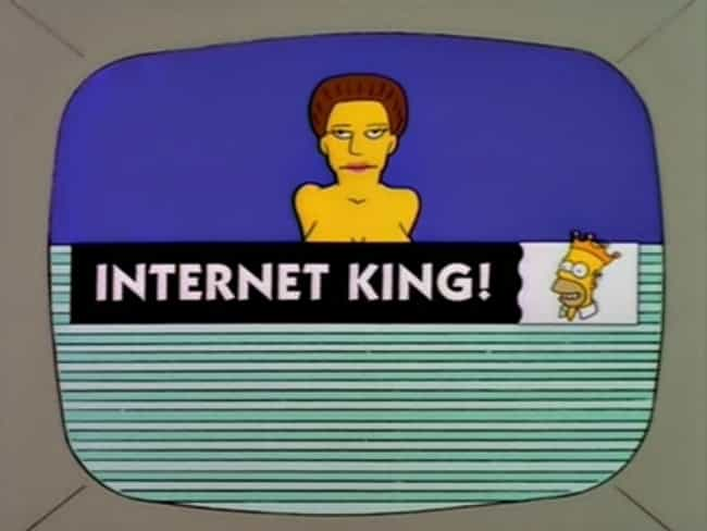 The Internet: Movie Rumors &am... is listed (or ranked) 2 on the list Simpsons Jokes That Actually Came True (Vol. 2)