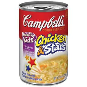 Campbell's Chicken & Stars is listed (or ranked) 9 on the list The Best Kinds of Campbell's Soups That Are Mmm, Mmm Good
