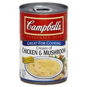 Campbell's Cream of Chicke is listed (or ranked) 21 on the list The Best Kinds of Campbell's Soups That Are Mmm, Mmm Good