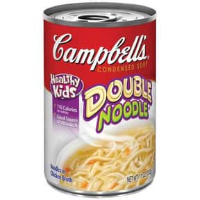 Campbell's Double Noodle is listed (or ranked) 11 on the list The Best Kinds of Campbell's Soups That Are Mmm, Mmm Good