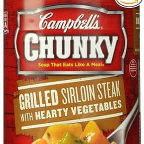 Campbell's Chunky Grilled  is listed (or ranked) 18 on the list The Best Kinds of Campbell's Soups That Are Mmm, Mmm Good