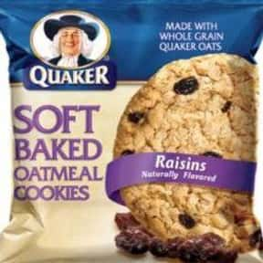 Quaker is listed (or ranked) 18 on the list The Best Cookie Brands