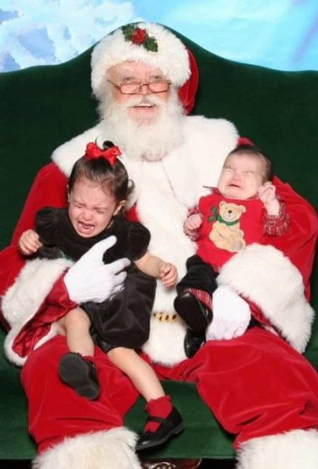 Their Tears Only Fuel Santa&#3... is listed (or ranked) 2 on the list 58 Kids Who Are Terrified of Santa Claus