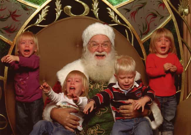 Four in a Row! is listed (or ranked) 1 on the list 58 Kids Who Are Terrified of Santa Claus