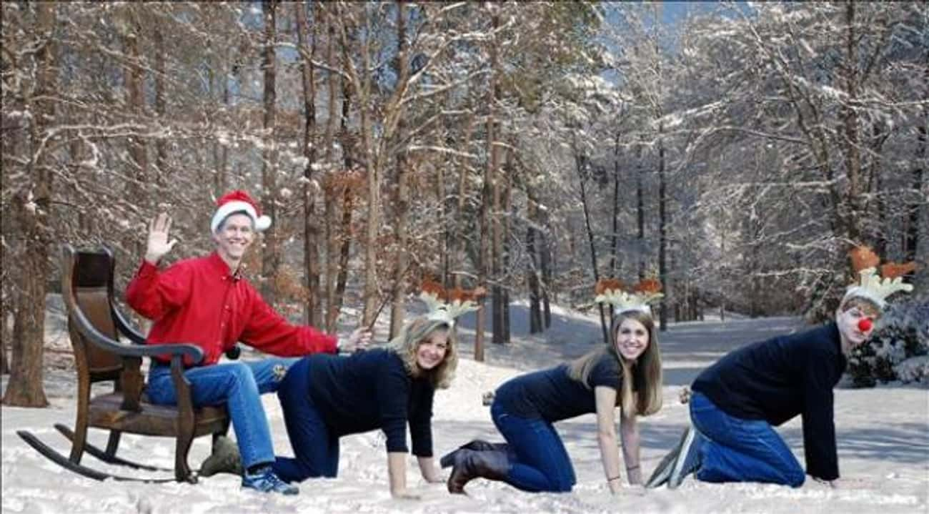 Dash Away All! is listed (or ranked) 1 on the list Awkwardly Hilarious Family Christmas Photos