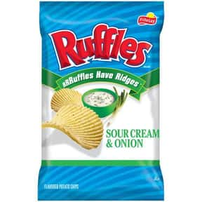 Ruffles Sour Cream & Onion is listed (or ranked) 17 on the list The World's Most Delicious Chips, Crisps & Crunchy Snacks