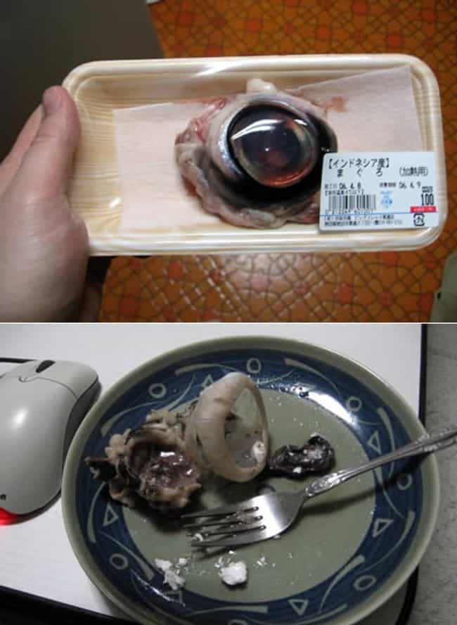 Eel's Eye is listed (or ranked) 4 on the list 30 Utterly Bizarre Japanese Snack Foods That Actually Exist