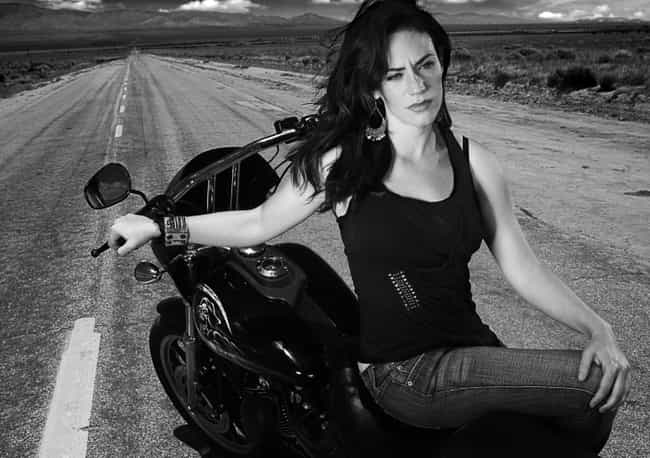 Maggie Siff Sitting On a Motor... is listed (or ranked) 4 on the list The Most Stunning Maggie Siff Photos