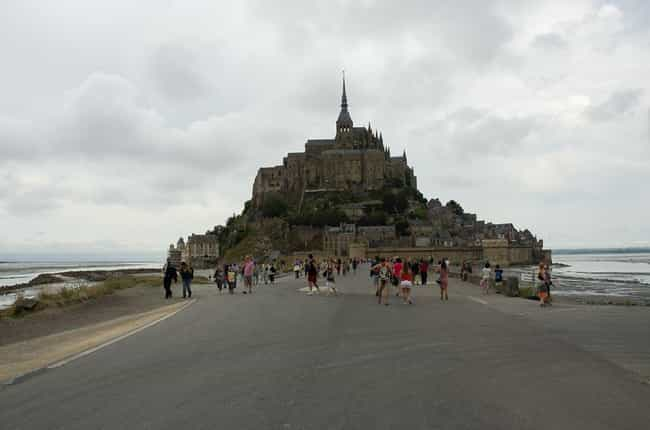 Mont St Michel is listed (or ranked) 2 on the list The Most Beautiful Castles in France