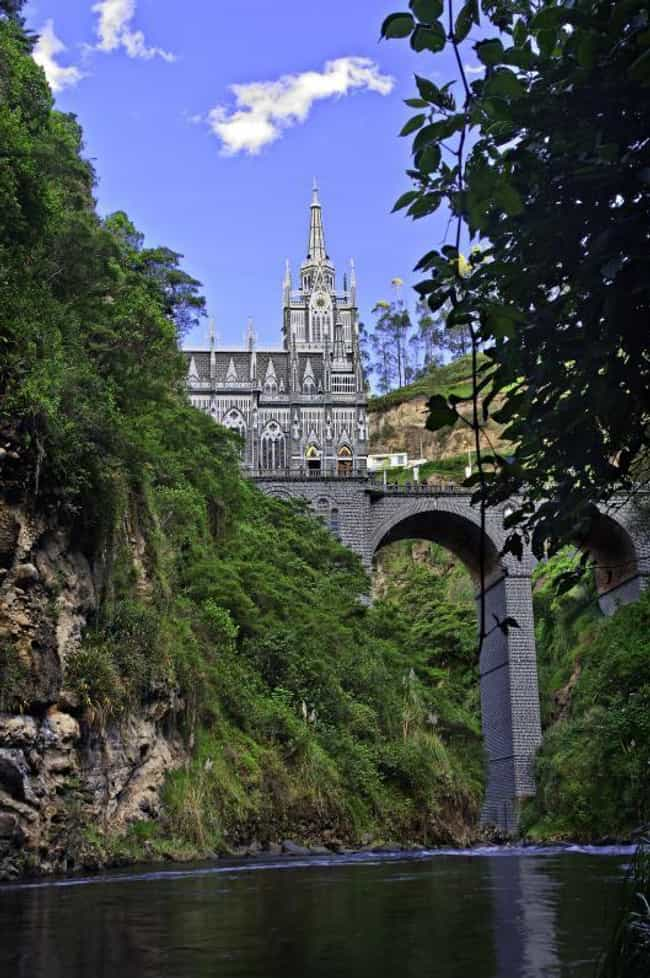 Las Lajas Sanctuary is listed (or ranked) 4 on the list The Most Beautiful Catholic Churches
