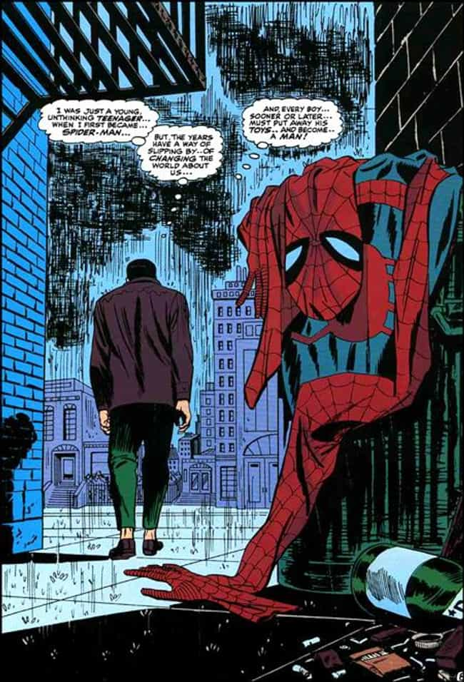 The Amazing Spider-Man ... is listed (or ranked) 2 on the list The Most Iconic Comic Book Splash Pages Ever