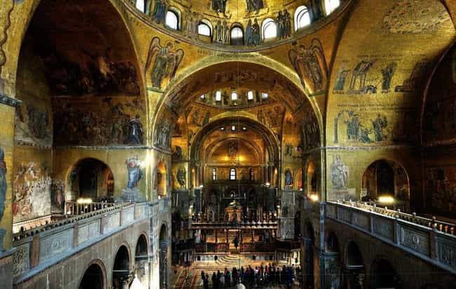 St. Mark's Basilica of V... is listed (or ranked) 3 on the list The Most Beautiful Catholic Churches